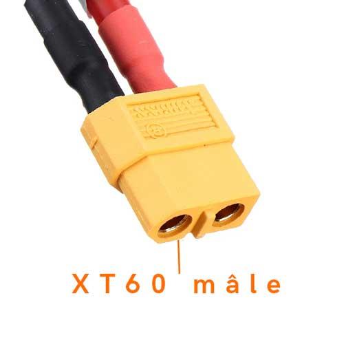Connecteur XT60 d'une lipo fpv