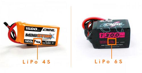 Quelle batterie lipo choisir : comparaison lipo drone fpv racer 4s vs 6s