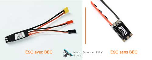 ESC avec BEC et ESC sans BEC drone fpv racer