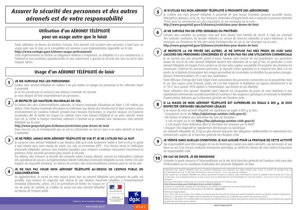 PDF réglementation comment piloter un drone fpv racer en France